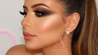 Copper Smokey Eyes + Perfect Skin Highlight & Contour + Baking | Melissa Samways