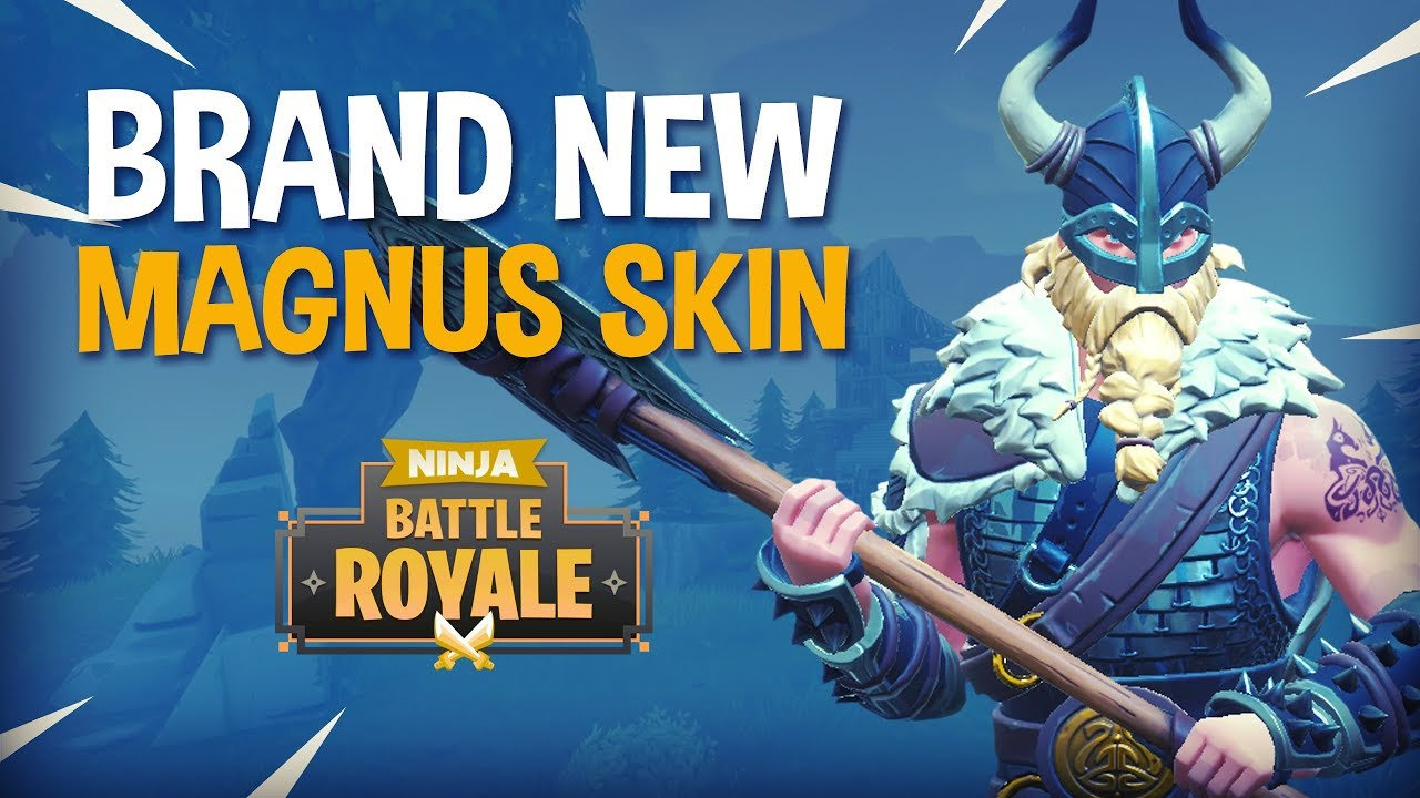Brand New Magnus Skin Fortnite Battle Royale Gameplay Ninja