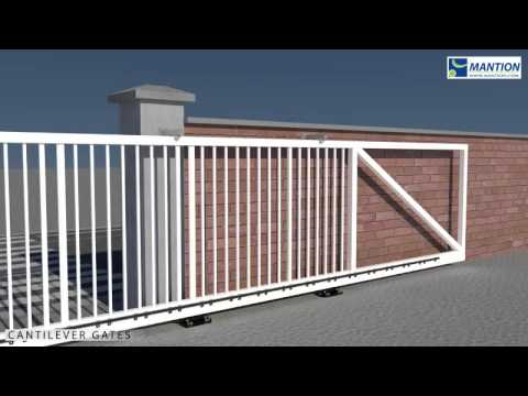Cantilever Sliding Gate Installation Video Youtube