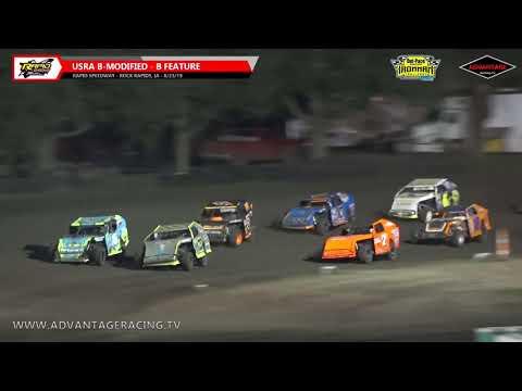 Sportsman Heats/Hobby + Ironman B-Features - Rapid Speedway - 8/23/19