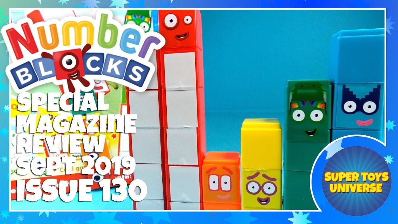 Foam Letters /& 4 Magazines Numberblocks /& Alphablocks Toy Number Blocks 1-15