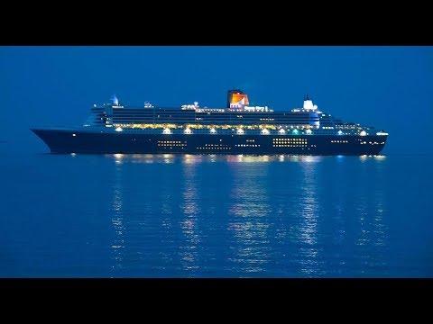 """QUEEN MARY 2"" Cruise Liner / Europe-America Transatlantic Cruise / part 1 of 5"