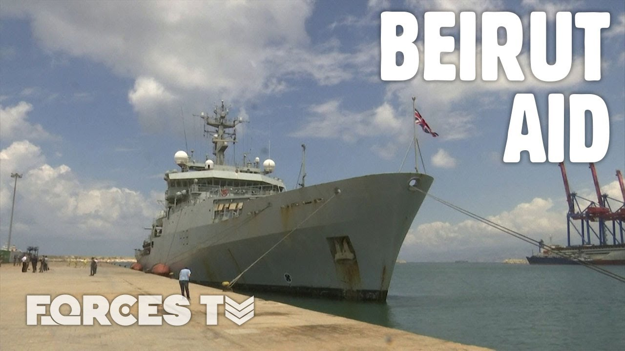 Royal Navy's HMS Enterprise Arrives In Beirut Following An Explosion In The City's Port | Forces TV