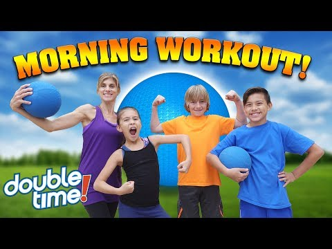 MORNING WORKOUT ROUTINE!!! Family Exercise Challenge with Beachbody Double Time!