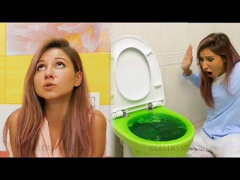 Подглядываю за девочками в туалете | Туалетные Лайфхаки | Тупые Инстаграм Лайфхаки