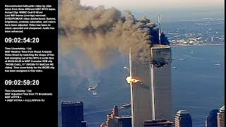 WTC 1 / 9:00:34am - 10:36:39am / NE, N & NW / Raw Video by WNBC-TV Chopper 4 - Sel. Take 1 of 1