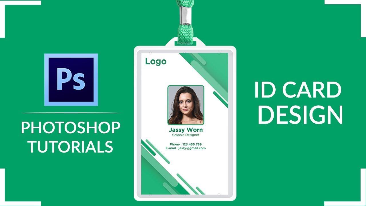 Employee ID Card Design | How to Design Employe ID Card In Adobe Photoshop | Company ID Card Design