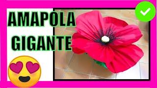 Flor grande 18 amapola