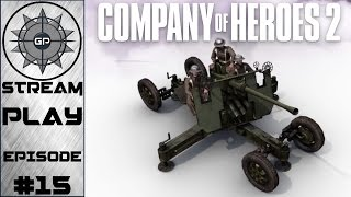 Panther Charge vs. British Emplacements - Company of Heroes 2 - Greyshot Productions Live Stream