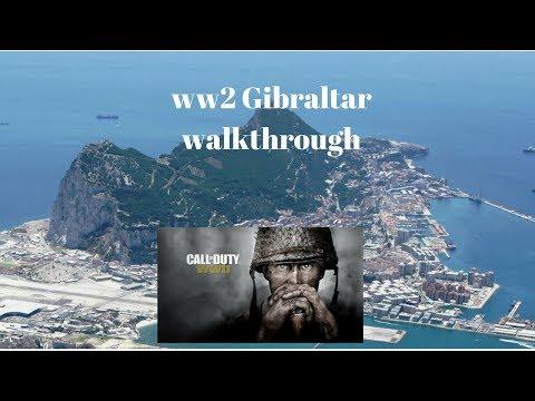 cod ww2 gibraltar map walkthrough