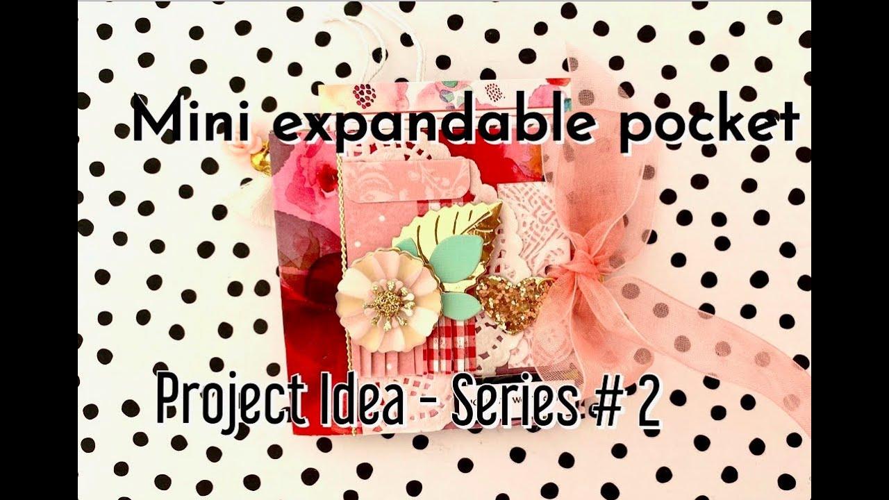 ✂️ Mini Expandable Pocket   My 4 Day Project Idea Series # 2   Junk Journal, Mini Album, Flip Book