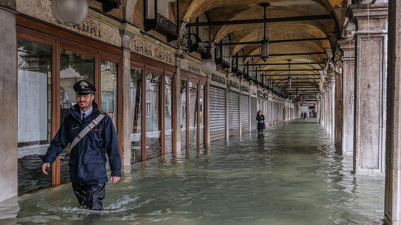 Venice inundated as Italy hit by floods and fierce winds