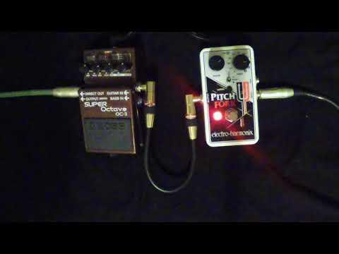 Electro Harmonix Pitch Fork VS BOSS OC-3 Super Octave ... SHOOTOUT