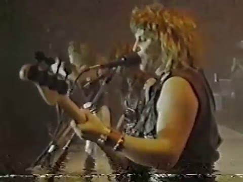 Helix, Live on Much Music, Edmonton, Alberta, Canada, 1985,,  Long Way to Heaven Tour.