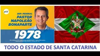 PASTOR NAPOLEÃO BONAPARTE DEPUTADO FEDERAL n.1978 PTN - SANTA CATARINA