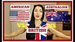 AMERICAN vs BRITISH vs AUSTRALIAN | Common English Dialect Differences #spon