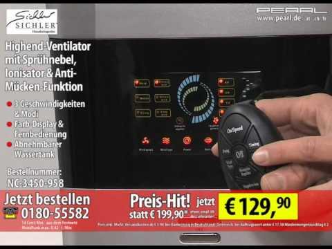 highend ventilator mit spr hnebel ionisator anti m cken. Black Bedroom Furniture Sets. Home Design Ideas