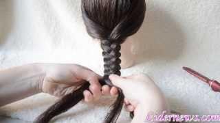 Коса из 5 прядей вариант 2 braid five strands