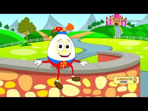 Humpty Dumpty Hindi Rhyme | Kindergarten | Preschool | Best Hindi rhymes |  Kiddiestv Hindi
