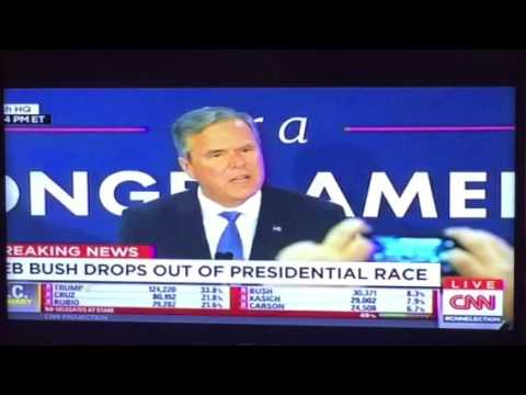 Jeb Bush Drops Out Of 2016 Presidential Race, Gives Speech