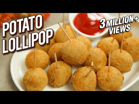 Potato Lollipop Recipe - Veg Lollipop - Quick & Easy Starter Recipe - Potato Snack - Varun