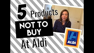 What Not To Buy At Aldi  Top 5 Don't Buys Aldi  Collab SimpleWifeSimpleLife