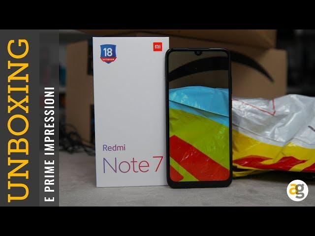 Unboxing REDMI NOTE 7 Xiaomi e ORA SONO UNO YOUTUBER FIKO!
