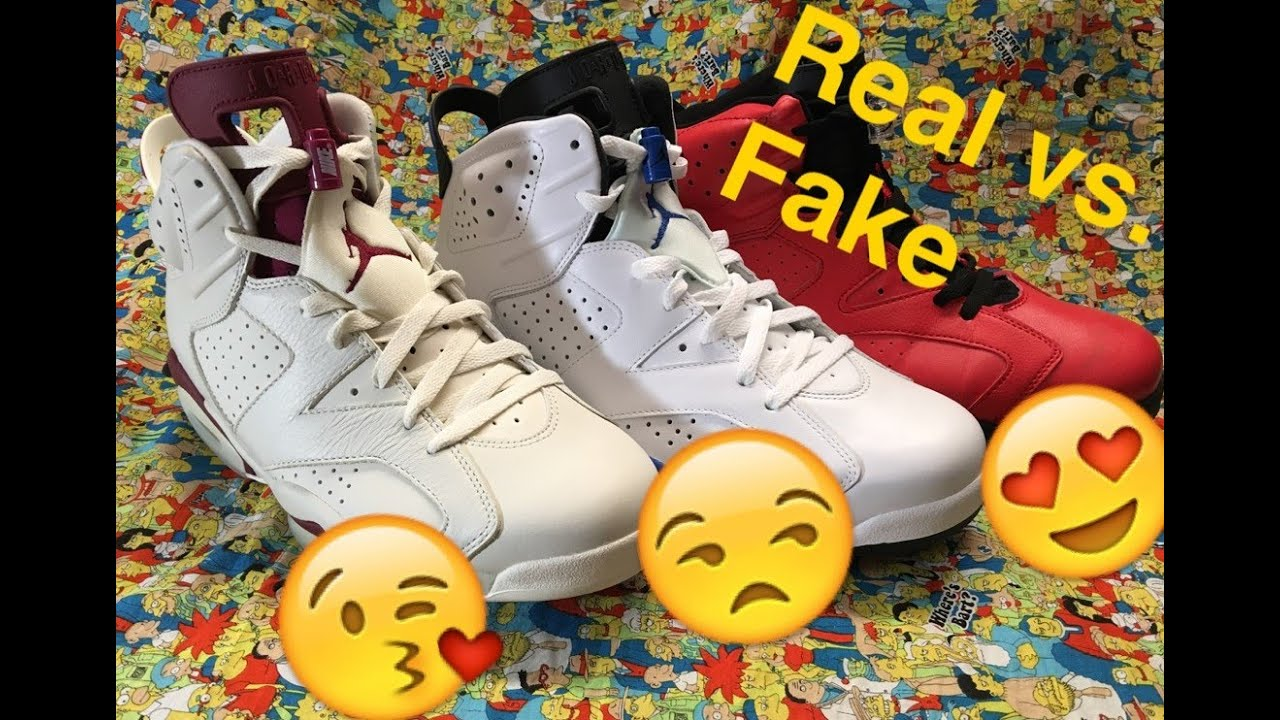 f25a5ad94f1d8f Jordan 6 Real vs. Fake (For all models) - YouTube