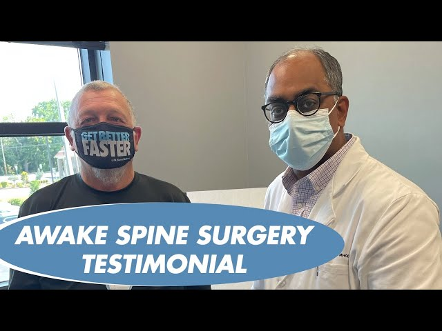 RICHARD'S EXPERIENCE WITH AWAKE SPINE SURGERY - DR ALOK SHARAN at NJ SPINE and WELLNESS