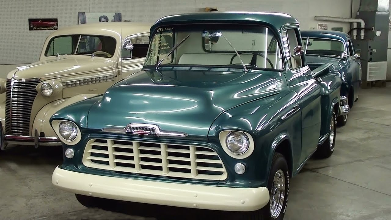All Chevy 1956 chevrolet 3100 : 1956 Chevrolet 3100 Pickup V8 Nicely Restored - YouTube