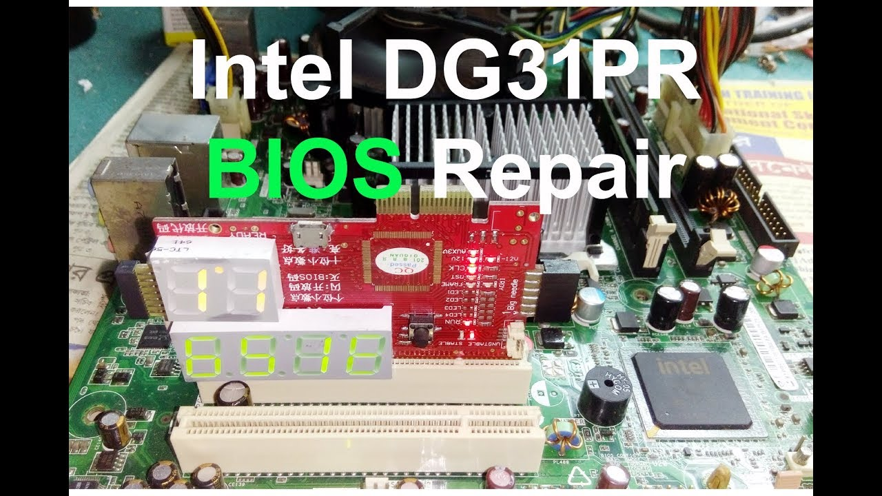 Intel DG31PR Dead BIOS Repair Solve / Intel DG31PR Motherboard Repair