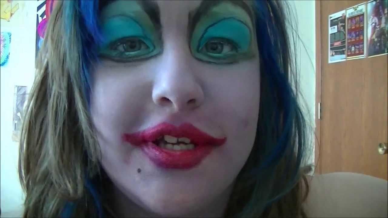 Ursula Full Face Costume Makeup Tutorial  YouTube - Costume Face Makeup