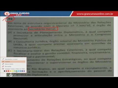 Cabe Recurso? | Concurso MRE - Oficial de Chancelaria| Estrutura Regimental - Ismael