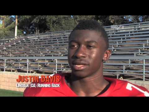 Justin Davis - Lincoln High School Running Back - Highlights/Interview Sports Stars of Tomorrow