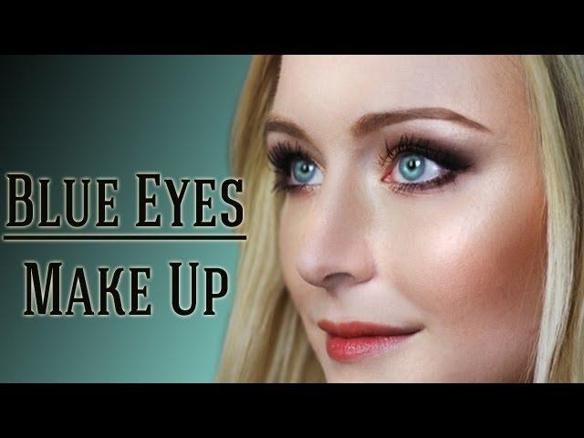 Make augen blond up blaue Mädchen Mit