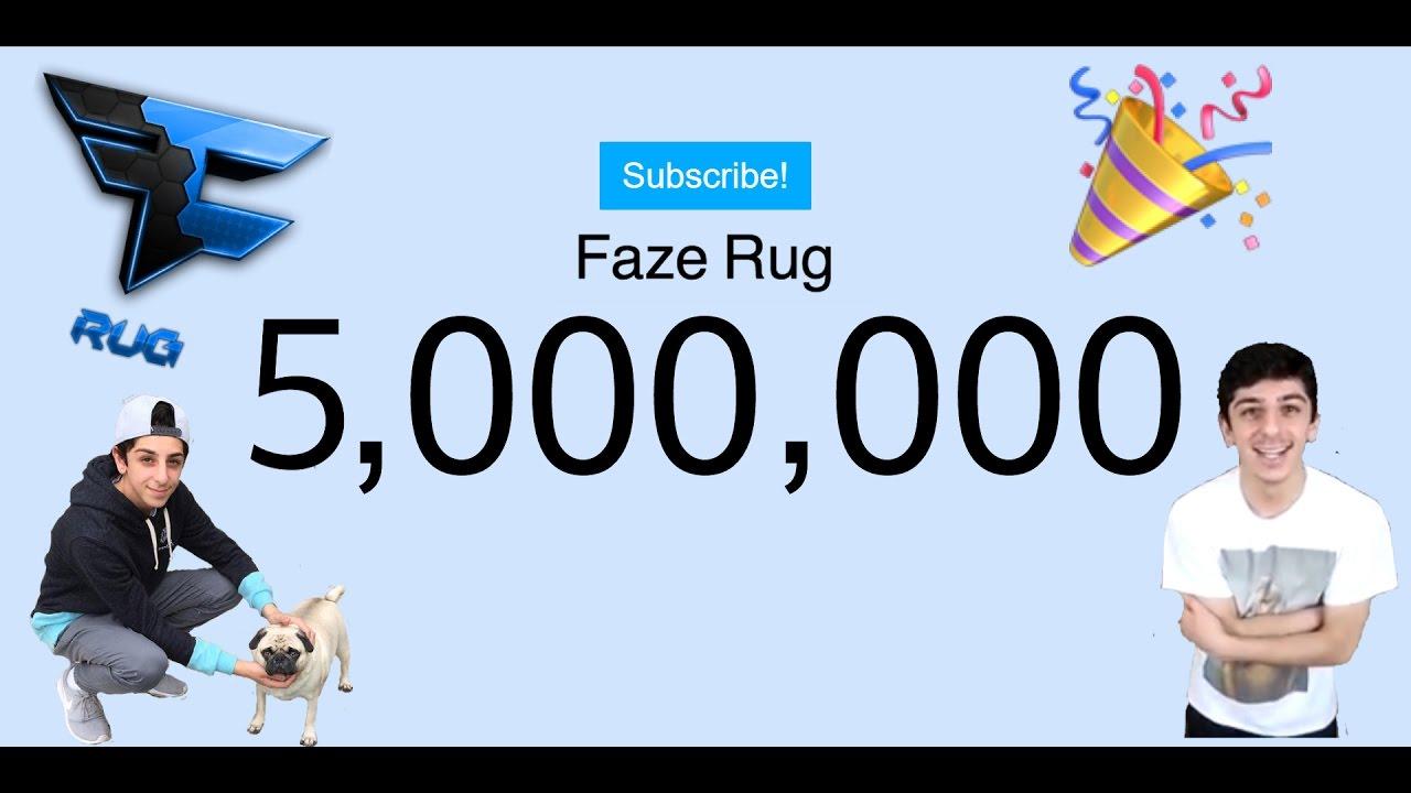 Faze Rug 5 million live subscriber