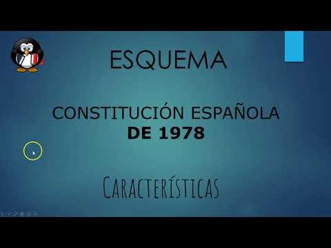 Esquema CONSTITUCIÓN ESPAÑOLA DE 1978. Características