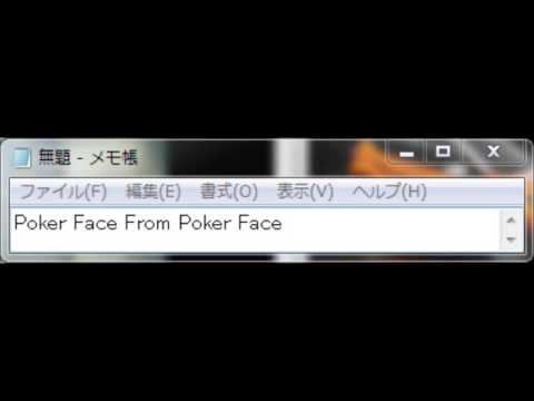 Poker Face From Poker Face