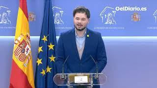 Gabriel Rufián (ERC) anuncia