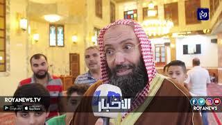 جلالة الملك يفتتح مسجد جامع العرب في الزرقاء