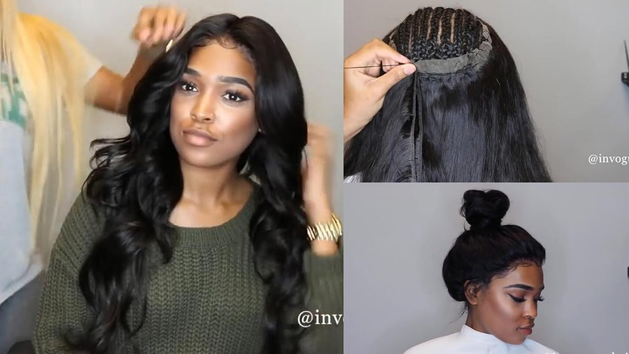 360 Lace Frontal Install Start To Finish No Glue Tape