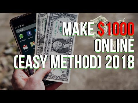 How To Make Your First $1000 Online FAST (THE EASY 2018 METHOD) Service Arbitrage