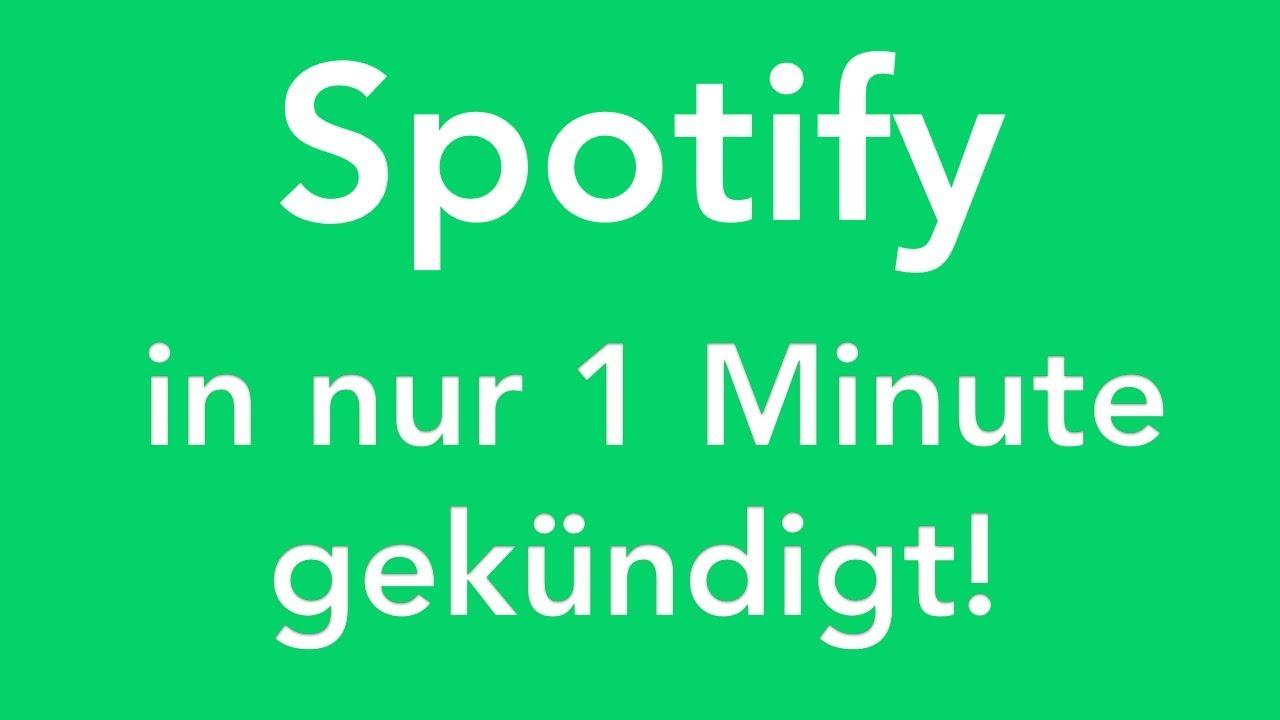 Spotify Online Kündigen In Genau 1 Minute Erledigt Youtube