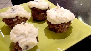 Mariah Milano's Viewer Challenge! Meatloaf Cupcakes With Mashed Potato Frosting!
