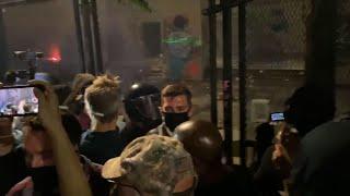 Federal agents tear gas Portland Mayor