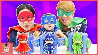 파자마 삼총사 국민이 출동! 폴리 타요 장난감 친구들 위험해요 ♡ PJ MASKS Headquarters Playset Kids Toys | 말이야와아이들 MariAndKids
