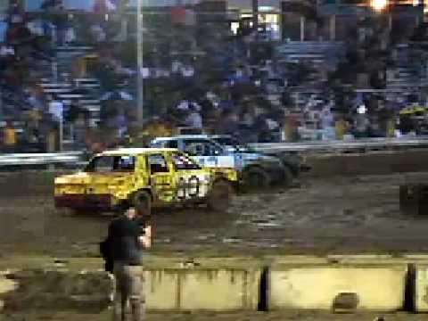 Automobile Magazine at a Demolition Derby