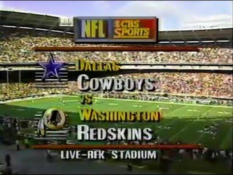 1991-11-24 Dallas Cowboys vs Washington Redskins(Beuerlein takes over for ailing Aikman)