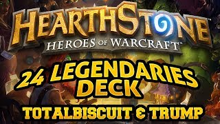 Hearthstone - TotalBiscuit forces Trump to play the 24 Legendaries deck
