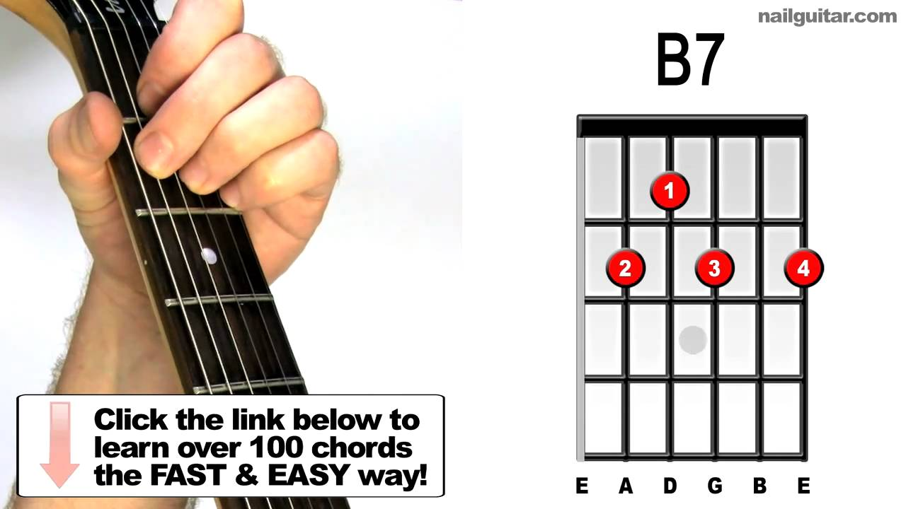 B7 blues guitar chords youtube b7 blues guitar chords hexwebz Images